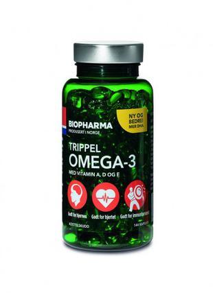 Омега 3 Biopharma Trippel Omega-3 144 капсулы