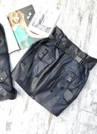 Юбка мини, юбка стиль 2020, юбка миллитари