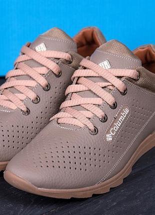 Кожаные легкие мужские туфли шкіряні чоловічі туфлі