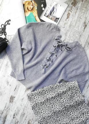 Свитерок, нежный свитер, свитер оверсайз с завязками