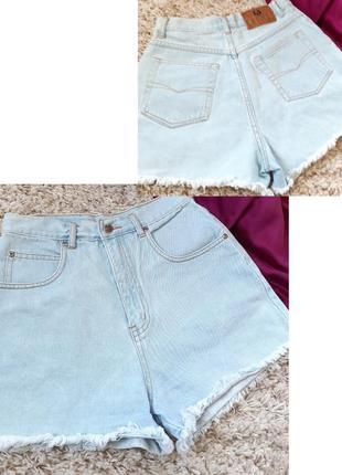 Мега стильные короткие джинсовые шорты с высокой посадкой,  co...