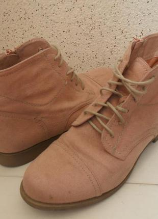 Ботинки замшевые, женские duffy.