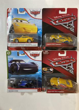Тачки 3 Cars 3( Джексон шторм; Круз, Кэл, Маквин, Чикко)