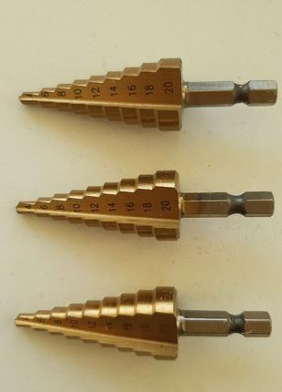 Сверло ступенчатое 4 - 20 mm ( H.S.S. )