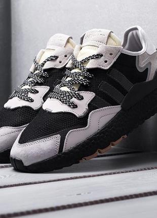 Кроссовки adidas nite jogger core black carbon