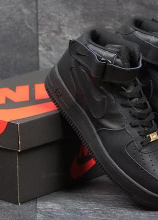 Кроссовки nike air force high black