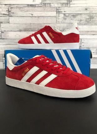 Кроссовки adidas gazelle classic red мужские