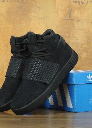 Кроссовки adidas tubular invader strap black мужские