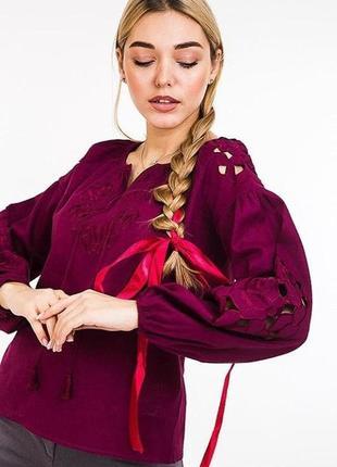Современная вышиванка блузка с вышивкой сорочка з вишивкою цвета