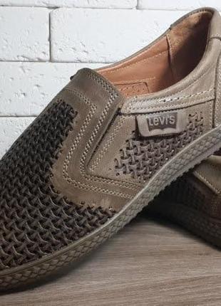 Летние кожаные туфли с перфорацией літні шкіряні туфлі