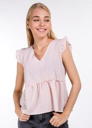 Нежная женственная блуза свободного кроя с рюшами расцветки 🌸