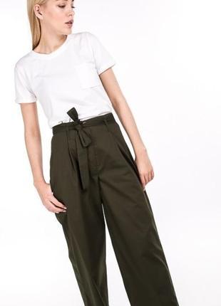 Штаны брюки кюлоты свободного кроя с завышенной талией цвета