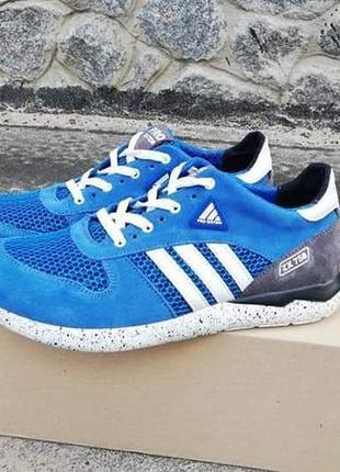 Кожаные кроссовки с сеткой adidas electric
