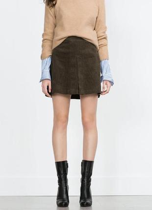 Вельветовая юбка zara