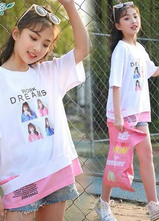 Футболка для девочек фабричный китай люкс качество