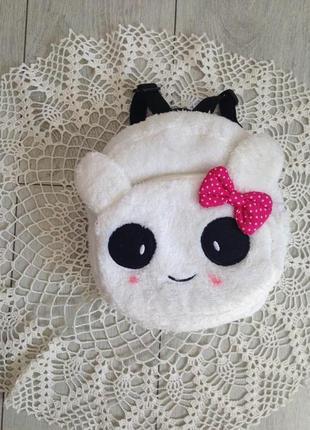 Мягкий рюкзак игрушка панда для девочки на возраст 1.5-3 года