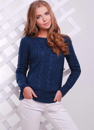 Вязаный свитер джемпер полушерсть