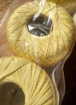 Нитки для вязания крючком, 100% мерсеризованный хлопок.