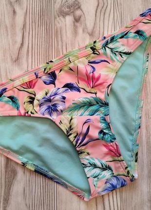 Плавки бикини/нижняя часть  купальника/принт цветы/низ купальника