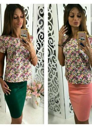 Шикарный топ* блуза*принт цветы