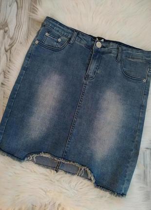 Рваная юбка*джинсовая юбка*юбка*скидка 15%