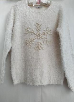 🔥распродажа 🔥свитер*свитер пушистый* свитер с орнаментом*пуловер