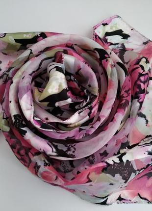 Шарф*шарфик*принт цветы
