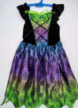 Карнавальное платье паутинка на 7-8 лет *платье на хэллоуин*ка...