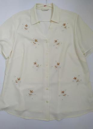Блуза с вышивкой лентами*блуза*блузка*вышиванка