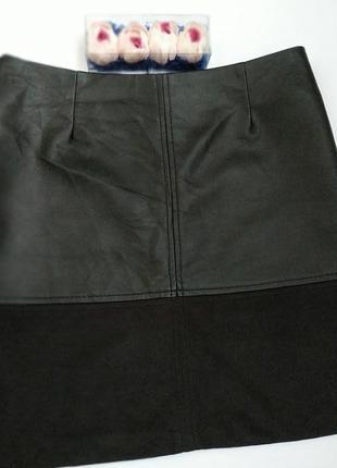 Юбка- трапеция*кожаная юбка*замшевая юбка*короткая юбка
