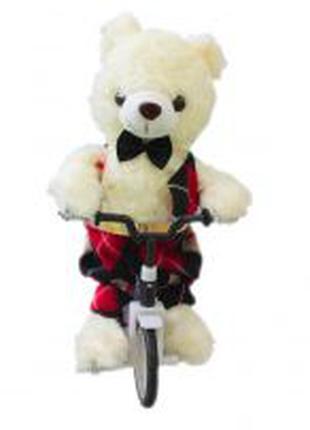 Мягкая интерактивная игрушка медведь на велосипеде