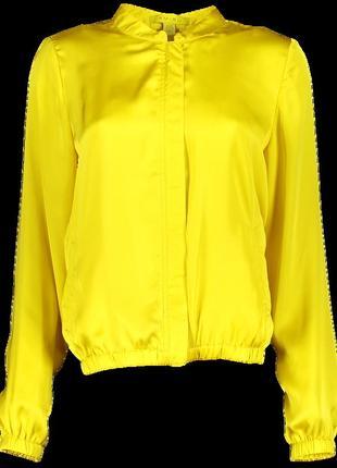 Новая женская тонкая жёлтая летняя куртка ветровка пиджак наки...