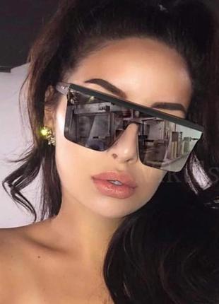 Очки маска солнцезащитные зеркальные