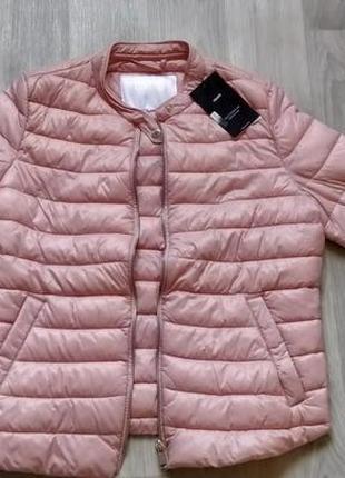 Новая женская демисезонная стёганная розовая куртка ветровка п...