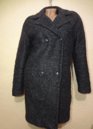 Двубортное пальто h&m размер m