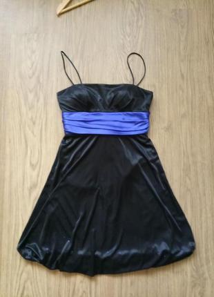 Нарядное платье с блестками, р 44