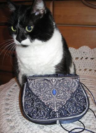 Женская сумочка. клатч кружевной