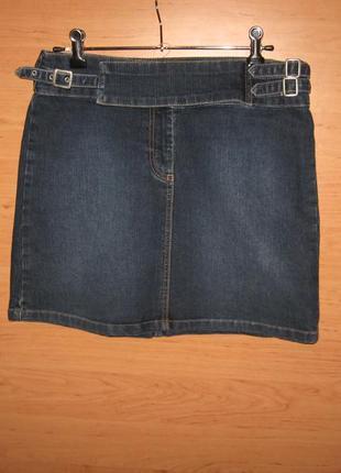 Юбка джинсовая colin's мини, размер s оригинальный дизайн