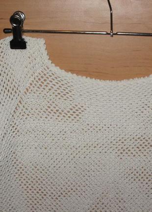 Блуза/топ летний ,модный сетка, вязаный