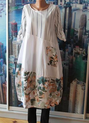 Натуральное платье в стиле бохо