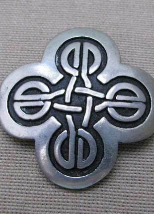 Винтаж, брошь, кельтский крест, маркировка