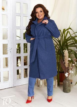 Женское кашемировое пальто норма и батал