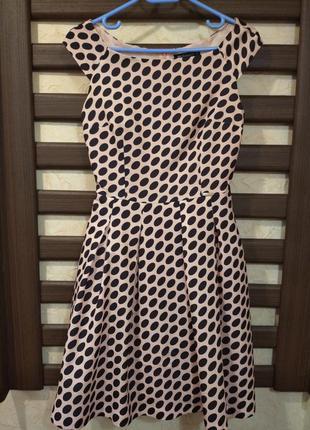 Платье женское modello в горох,коктельное платье, пышное плать...