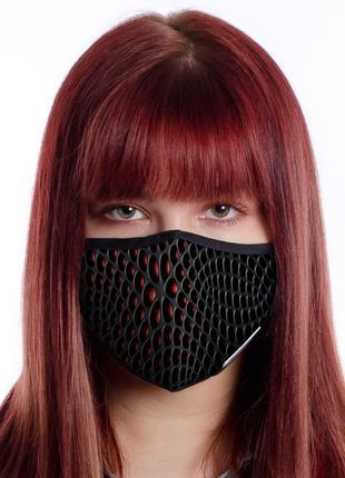 Тканевая двухслоная маска с сетчатым карманом под вкладыш (Alien)