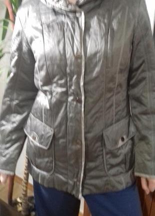 Серебристо - стальная деми курточка