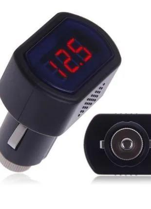 Цифровой вольтметр измеритель напряжения бортсети в прикуриватель