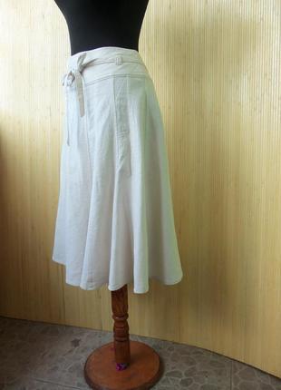 Летняя юбка колокохл с поясом хлопок   new look