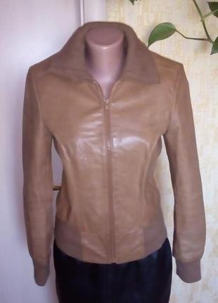 Фирменный крутой бомбер из 100 % кожи/куртка/бомбер/пиджак/кас...