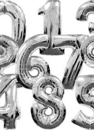 Фольгированный надувной шар цифра