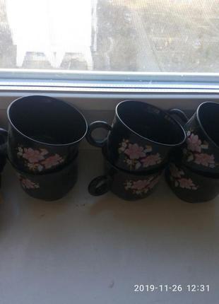 Чайний сервіз 6шт чашек і 6шт блюдечек+ піала глибока...